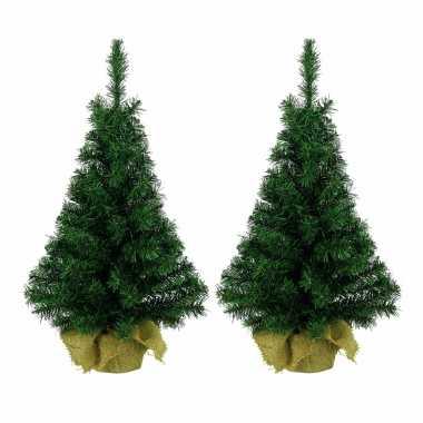 4x stuks kantoor/bureau kerstboom 60 cm