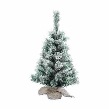 Kantoor kerstboom sneeuw 35 cm