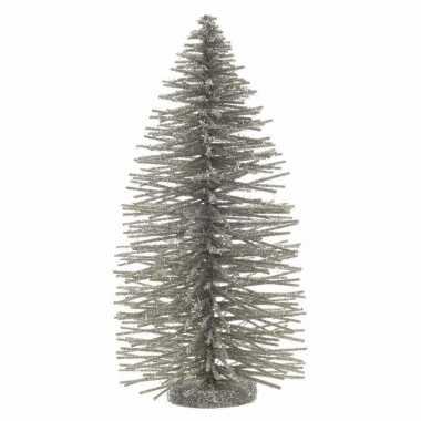 Kerst boom nep champagne kleurig 35 cm
