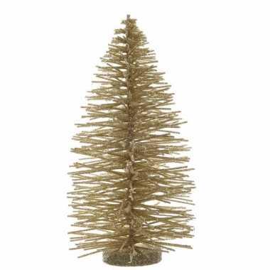 Kerst boom nep goud kleurig 35 cm