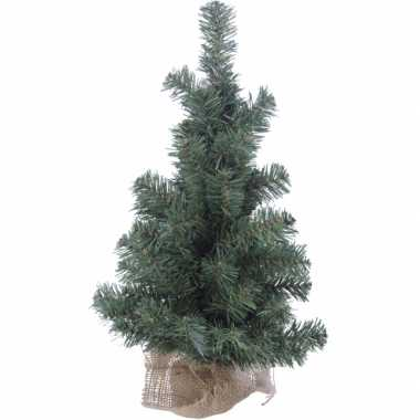 Kerstboom met jute zak om voet 60 cm