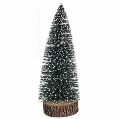 Kerstdorp kerstboom met licht 28 cm
