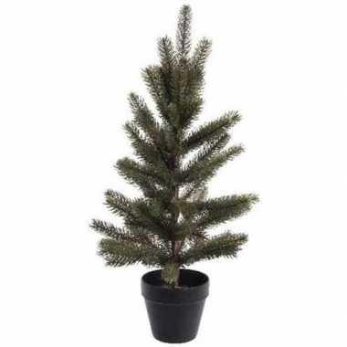 Kerstmis nep dennenboompje 60 cm in pot