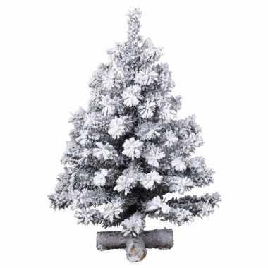 Kerstmis nep dennenboompje 90 cm besneeuwd