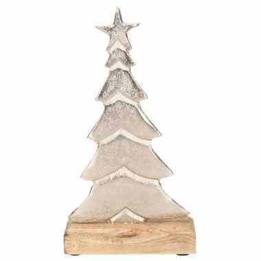 Kerstversiering/decoratie aluminium kerstboom 24 cm