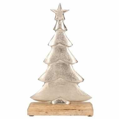 Kerstversiering/decoratie aluminium kerstboom 30 cm