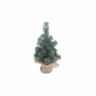 Kleine kerstboom met houten voet