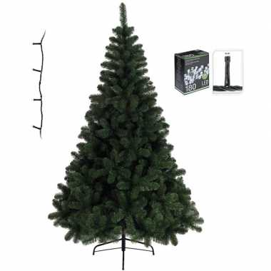 Kunst kerstboom 120 cm incl. helder witte lampjes