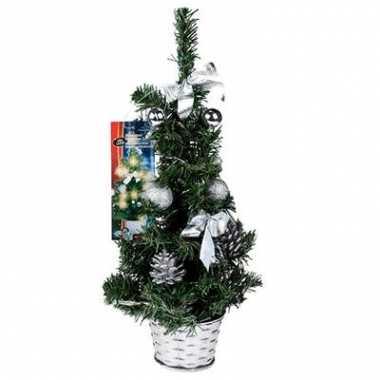 Kunst kerstboom zilver met led