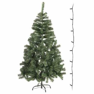 Kunst kerstboompje 60 cm incl. gekleurde lampjes