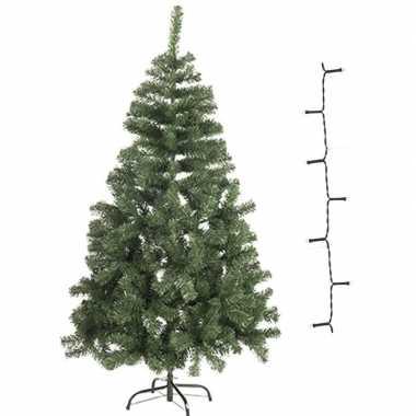 Kunst kerstboompje 60 cm incl. warm witte lampjes
