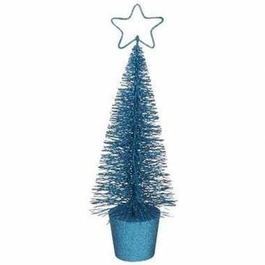 Mini kerstboom in de kleur blauw 30 cm