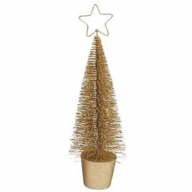 Mini kerstboom in de kleur goud 30 cm