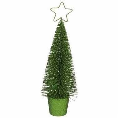 Mini kerstboom in de kleur groen 30 cm