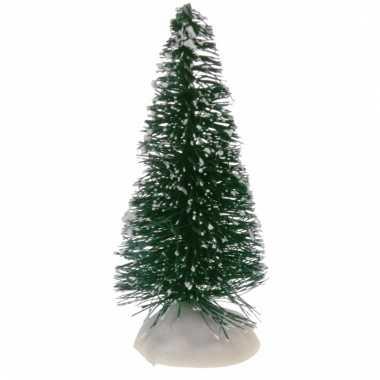 Miniatuur kerstboompjes groen 4 stuks